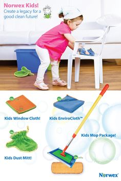 Kids Norwex Microfiber: Create a legacy for a good clean future!