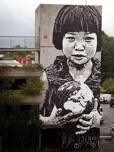 "Jef Aerosol ""This World Is Your World"" New Street Art - Bordeaux, France"