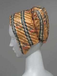 Cap, 18thc.,Made of silk brocade