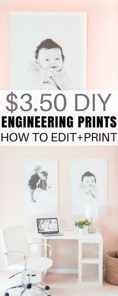 These Engineering Prints Are The Easy And Cheap Way To Print Large Photos At Staples Whole Project Including Frame Is Under 14