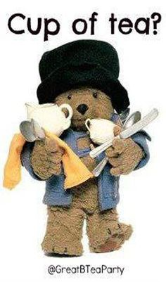 Ah - delightful Paddington Bear preparing for a Paddington Tea!
