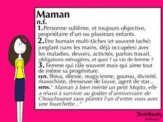 Maman - Sixinthecity Funny Christmas Cards, Christmas Humor, Wise Quotes, Words Quotes, Funny Definition, Single Mum, Mothers Day Crafts, Definitions, Affirmations