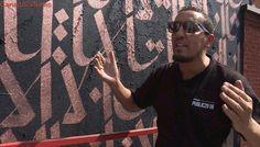 'Find me beyond your hate': The challenge behind calligraffiti artist Karim Jabbari's mural