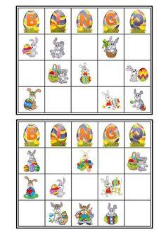 Bingo Lapin de Pâques - Cartons 1