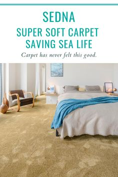 Looking for a soft bedroom carpet? Sedna offers a broad range of super soft carpets for your bedroom that you will love for years to come. Made from recycled waste such as abandoned fishing nets and post-consumer PET bottles, these silky soft carpets are not only good for your home but also for the environment. They are hard wearing, durable and easy to clean. Check out our website and learn more about our mission to save sea life! #sednacarpet