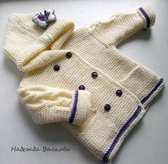 Bellissimo e facile da fare questo cappottino per bimbi ai ferri; basta seguire il tutoriale sotto che è molto dettagliato.