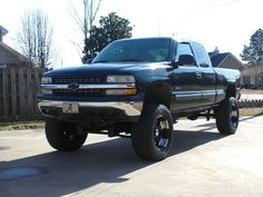 black Chevrolet Silverado lifted