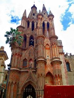 The neo-gothic cathedral in San Miguel de Allende, Mexico by Earthanglesatvillavictorious