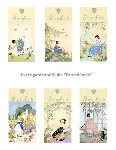 Janet Laura Scott Girls and Gardens digital by skipalongdesigns