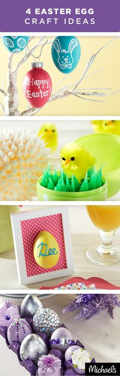 Make these fun Easter egg crafts that will last year after year. Use plastic, chalk and craft eggs to create adorable décor for you home. Find more egg crafts and all of the supplies you need to make these projects at Michaels.com