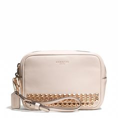 The Legacy Flight Wristlet in Studded Leather from Coach