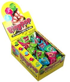 Ring Pop Original Lollipops : 1979 Frank Richards invents everyone's favorite lickable jewelry, the Ring Pop.