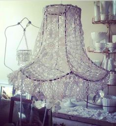 ❤Bare lampshade frame with lace