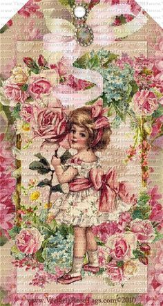 Victoria's Vintage Rose Bouquets Series Set 11 Attic Girls