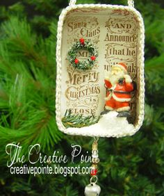 The Creative Pointe: Part Two: LWD Design Team Showcase: Altered Altoid Tins & Distress Markers on Vellum