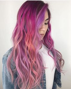 Pulp Riot is the paint. Beautiful Hair Color, Cool Hair Color, Hair Colour, Pulp Riot Hair Color, Bright Hair Colors, Lilac Hair, Coloured Hair, Dye My Hair, Mermaid Hair