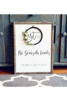 I love this farmhouse style family sign. This etsy shop has the cutest signs! #farmhouse #ad #farmhousedecorating #decor