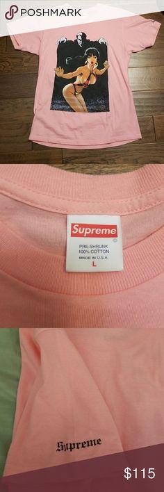 Supreme Shirt Pink Supreme Shirt with Supreme logo on right shoulder as shown in pic. Supreme Shirts