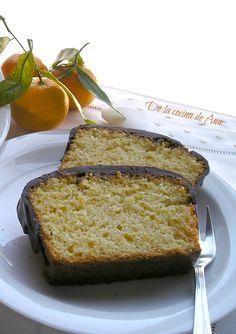De la cocina de Ana: Bizcocho de Mandarinas de Daniela, con cobertura de Chocolate