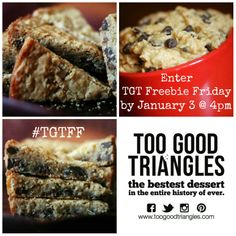 IT'S TGT FREEBIE FRIDAY! Save this pic by (include current date - 'September for example) at midnight to win a freshly baked batch of Classic Too Good Triangles and prepare yourself for the ultimate mouthgasm. Happy 6th Birthday, Happy 40th, Birthday Cake, Queen, Freshly Baked, Vegan Gluten Free, Delicious Desserts, Yummy Food, Delish