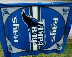 Tampa Bay Rays Throw Blanket MLB Baseball Blue Light Devil Man Cave Decoration #