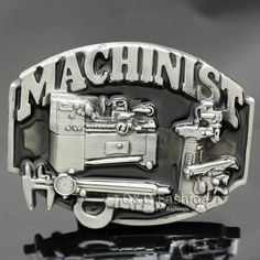 New Fashion Vintage Silver 3D Machinists Working Machinery Tools Trades Union Belt Buckle Men Gift Jewelry