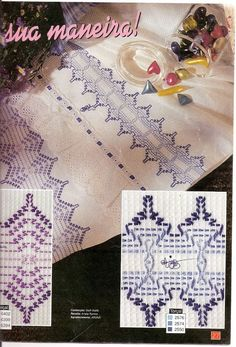 Foto: Bargello Needlepoint, Needlepoint Patterns, Bead Loom Patterns, Weaving Patterns, Huck Towels, Couture Invisible, Swedish Embroidery, Monks Cloth, Cat Cross Stitches
