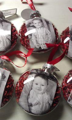 boules de Noel avec Photos N/B