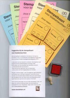 Stempelkaarten voor boekenwurmen: een makkelijke en snelle manier om kinderen boeken te beoordelen en te delen. Leerkracht krijgt inzicht over wat de leerlingen lezen.