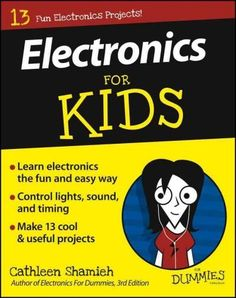 Electronics For Kids For Dummies takes an approach aimed to appeal to elementary-to-middle school aged students. The book breaks electronics into a series of smaller projects, each designed to teach a