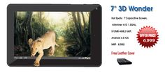 3D Wonder is cheapest 7 inch android tablet at affordable price from devante online store. It's a popular 3d games supported with a complete dual-analog controller. Visit Website- http://www.devantetablet.blogspot.com