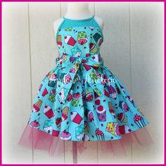 Little Girl Dress Cupcake Dress Birthday Dress by PippaAndPenelope