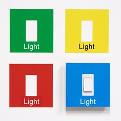 Help people to identify the light switch with these easy-to-use light switch cover labels.
