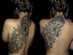 Amazing Tattoo Idea for Women on Back