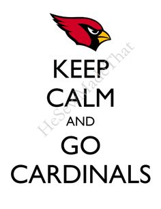 Keep Calm and Go Cardinals - 8x10 Picture - Wall Hanging - Arizona Football NFL Red.