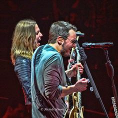 """Eric Church and Lzzy Hale of Halestorm singing """"That's Damn Rock & Roll""""! One of the best songs from """"The Outsiders"""" album! Country Music Artists, Country Singers, Lzzy Hale, Church Music, Take Me To Church, Music Is My Escape, Jake Owen, Halestorm, Florida Georgia Line"""