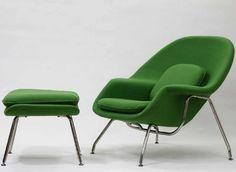 Saarinen womb chair in green