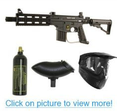 US Army Project Salvo Paintball Marker Gun 3Skull Package