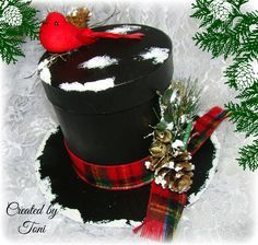 How to Create a Frosty the Snowman Top Hat Gift Box