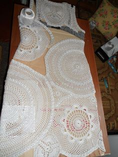 Picture Tutorial on Making A #Crochet #Dress with Doilies ~ Inspiration Mostly!