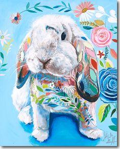 "Unique & Affordable Artwork│Selling Art like Starla Halfmann's ""Big Z"" Responsibly Animal Paintings, Animal Drawings, Art Drawings, Lapin Art, Rabbit Art, Pet Rabbit, Bunny Art, Inspiration Art, Colorful Animals"