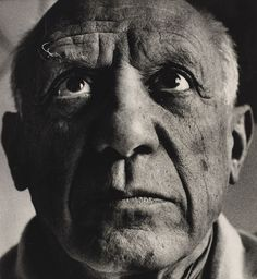 Portrait of Pablo Picasso by Richard Avedon, April 1958