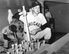 "this-day-in-baseball:  "" August 28, 1958  White Sox second baseman Nellie Fox sets a record when he goes 98 games — 396 at-bats — without striking out."""