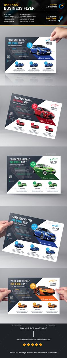 Rant A Car Business Flyer