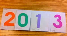 New Years Resolution Foldables