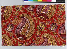 Piece Date: late century Culture: Russian Medium: Cotton Dimensions: L. 8 inches x cm Classification: Textiles-Printed Credit Line: Gift of The United Piece Dye Works, 1936 Accession Number: Paisley Art, Paisley Pattern, Cotton Silk, Pattern Wallpaper, Textiles, Tapestry, Traditional, Surface Pattern, Sewing