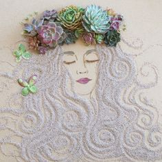 Chicago based online boutique Sister Golden is headed by a mother and daughter, Vicki and Brooke Rawlins duo who create art and decor items for the home. In the latest series, they have featured portraits composed entirely of natural elements, such as flowers, petals, leaves and stems.