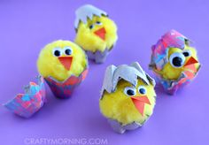 Egg Carton Hatching Chicks (Kids Craft) - Crafty Morning