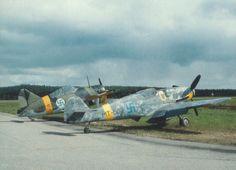 Finnish Brewster Buffalo and Messerschmitt Bf 109G
