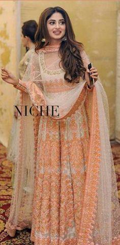 Sajal Ali in Nomi Ansari Pakistani couture